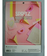 Spritz Paper Pads Scrapbook Paper Cardstock Glitter & Solid Double Sided - $9.90