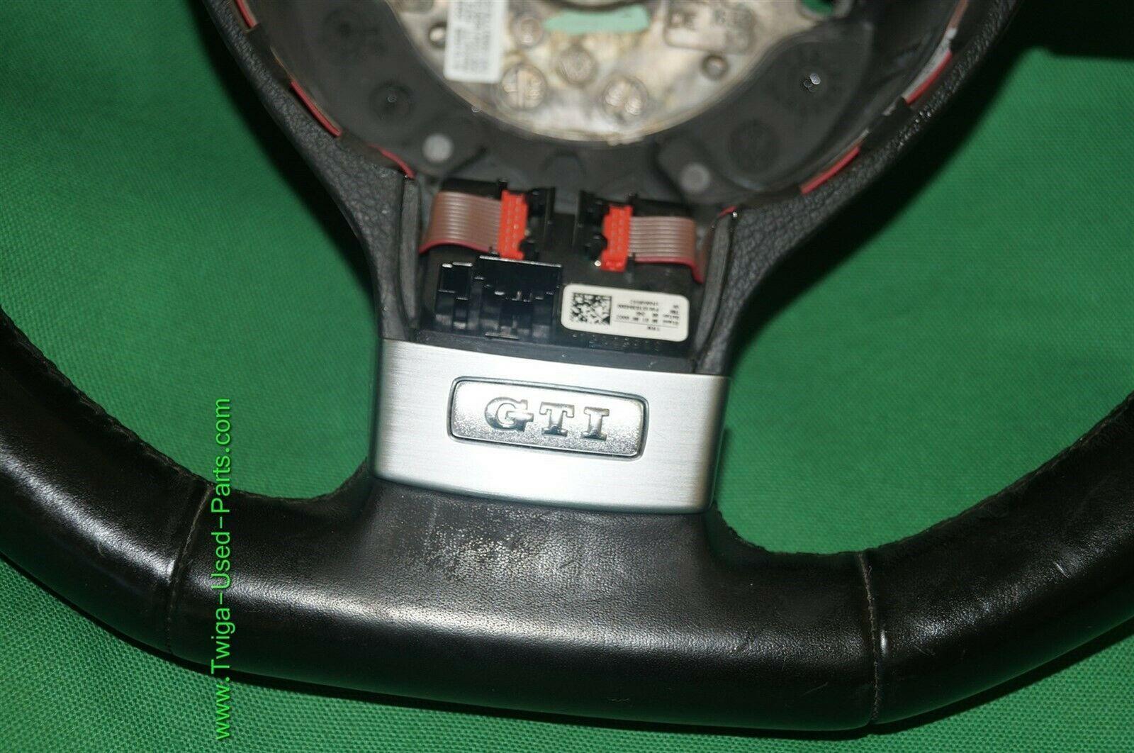 06-09 Volkswagen Rabbit GTi 3 Spoke Leather Steering Wheel w/ DSG Shift Paddles