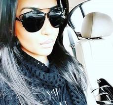 BLACK Flat Top TECHNOLOGIC Sunglasses men women so real pantos metal avi... - $8.86