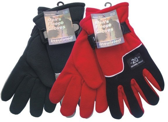 Case of [144] Men's Fleece Gloves - Heavy Duty