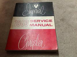 1963 Chrysler Imperial Service Shop Reparatur Manuell OEM Fabrik Riesig ... - $79.19