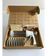 Pampered Chef Cookie Press 16 Discs 1525 in Box Christmas Holiday Baking - $18.81