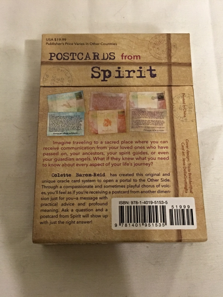 """Postcards From Spirit"" A 52-Card Oracle Deck by Colette Baron-reid"