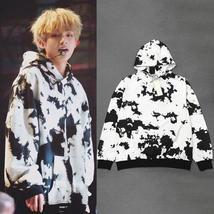 Kpop BTS V autumn warm Black white long sleeves women hoodies Bangtan Boys new f - $37.99