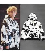Kpop BTS V autumn warm Black white long sleeves women hoodies Bangtan Bo... - $37.99