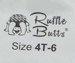 RuffleButts RLKIV4T0000 Ruffle Footless Tights Color Winter White Size 4T to 6 image 3