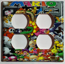 Super Mario All Characters Light Switch Outlet Wall Cover Plate Home decor image 4