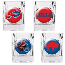 Buffalo Bills 4 Piece Collector's Shot Glass Set  - $35.66