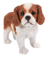 Pacific Giftware Realist Look King Charles Puppy Standing Resin Figurine... - $17.81