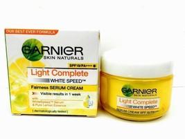 Garnier Light Complete White Speed Fairness Serum Cream With Lemon Extra... - $10.42