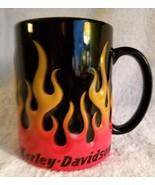 Harley Davidson Motorcycle Coffee Cup Mug Flames Oversize 2012 - $12.95