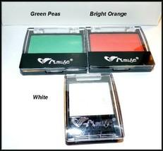 """3 X NEW """"AMUSE"""" GREEN PEAS, BRIGHT ORANGE & WHITE SMOKEY EYESHADOW  ~ FR... - $6.95"""