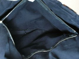 Auth Hermes Fool Toe Vassus MM Navy Cotton Canvas Shoulder Bag Purse France Used image 9