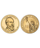 2011 James Garfield Presidential Dollar 2 coin set with holder CP4219 - $4.50