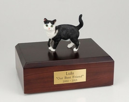 Tabby Black Cat Figurine Pet Cremation Urn Available 3 Different Colors/... - $169.99+