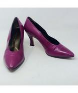 "Florence Studio Made In ITALY Women's Purple Classic 3"" High Heel Pumps ... - $26.68"