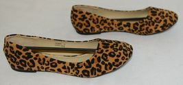 Anna Truman 1 Loepard Print Suede Womens Flats Size 7 And Half image 3