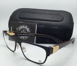 CHROME HEARTS Eyeglasses GAG'N MBK/GP-WEWE-PV 54-16 Black & Gold w/Piano Varnish