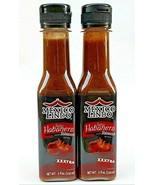 5 oz each Extra Hot 2 Salsas HABANERO HOT SAUCE Xxxtra Hot Tatemado Mexi... - $25.95