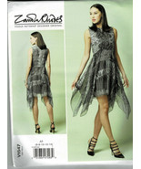 V1547 Vogue Pattern Easy Fitted Lined Dress Sizes 6-14 Shaped Hem Zandra... - $9.90