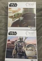 Star Wars The Mandalorian Baby Yoda Set of 2 500 Piece Puzzles Buffalo G... - $53.99