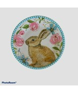 "Bunny Rabbit Easter Bunny Salad Dessert Plate 8 5/8"" Raised Relief Edge ... - $12.74"