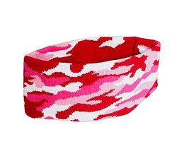 Camouflage Pattern Sports Yoga Hair Band Soft Cotton Thread Headband, ROSE - $10.66