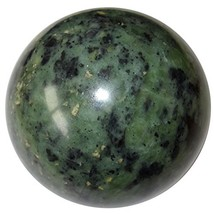 Serpentine Ball 58 Green Watermelon Crystal Past Life Memories Stone Med... - $93.31