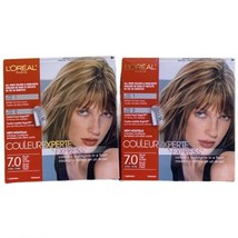 2x L'Oreal Couleur Experte Express Hair Color 7.0 Biscotti Dark Blonde NEW - $84.14