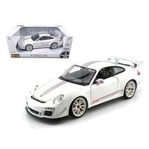 Porsche 911 GT3 RS 4.0 White 1/18 Diecast Car Model by Bburago 11036w - $59.82