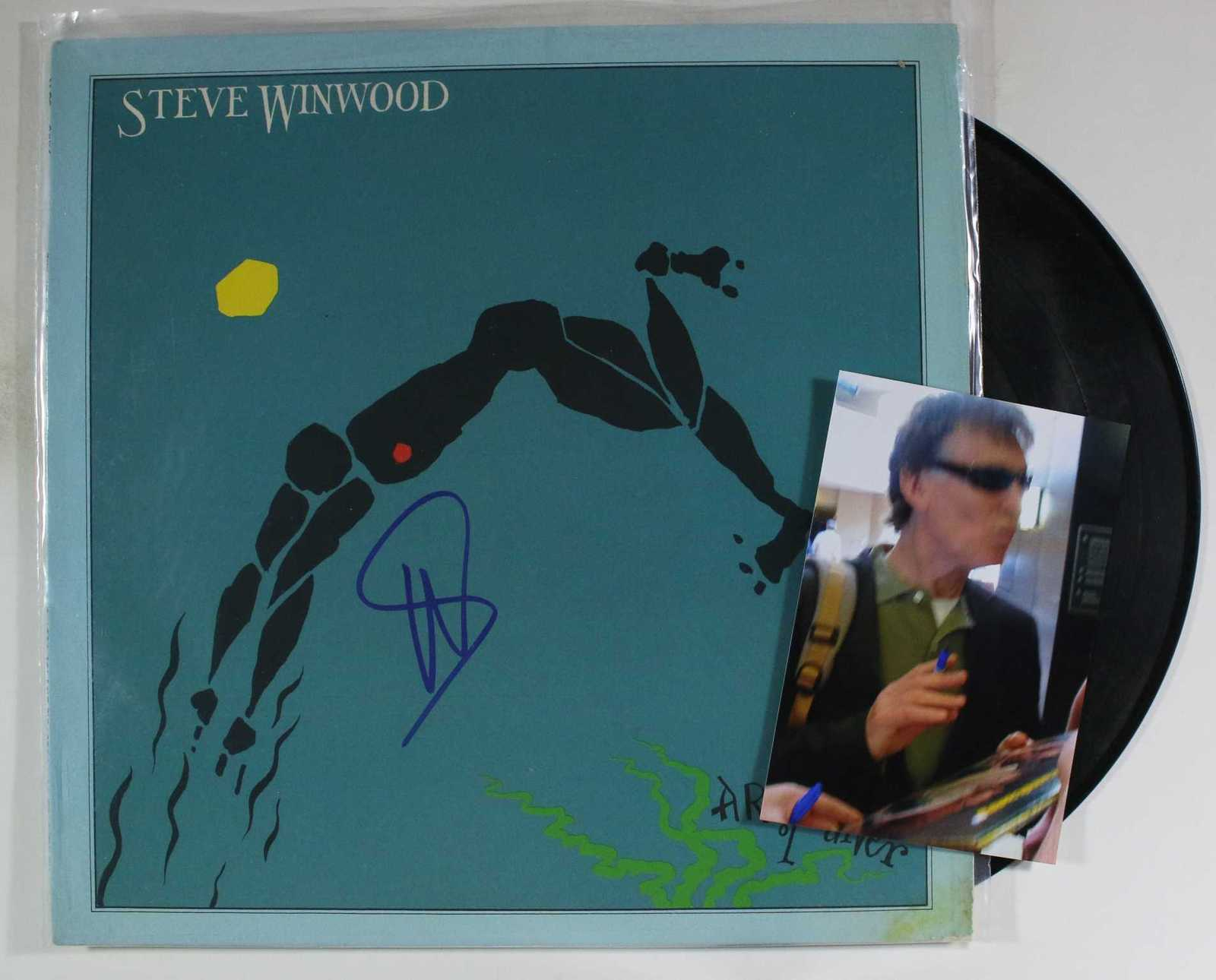 Primary image for Steve Winwood Signed Autographed Record Album w/ Proof Photo