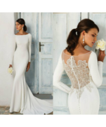 Elegant/ Satin Mermaid Wedding Dress - $307.00