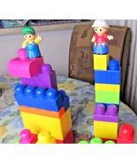 Large Mega Blok Kid Toddler Building Block Playtime Brick Random Lot Two... - $11.87
