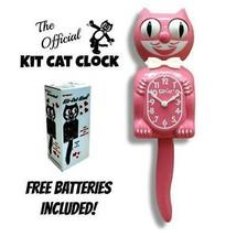 """Erdbeere Eis Set Katze Uhr 15.5 """" Pink Gratis Batterie Hergestellt in USA - £48.34 GBP"""