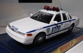 NYPD 1998 Ford Crown Victoria  New York Police Patrol Car & Patch  1:24 ... - $19.50