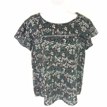 Banana Republic Womens Floral Life Pattern Flutter Sleeve Top M - $19.80