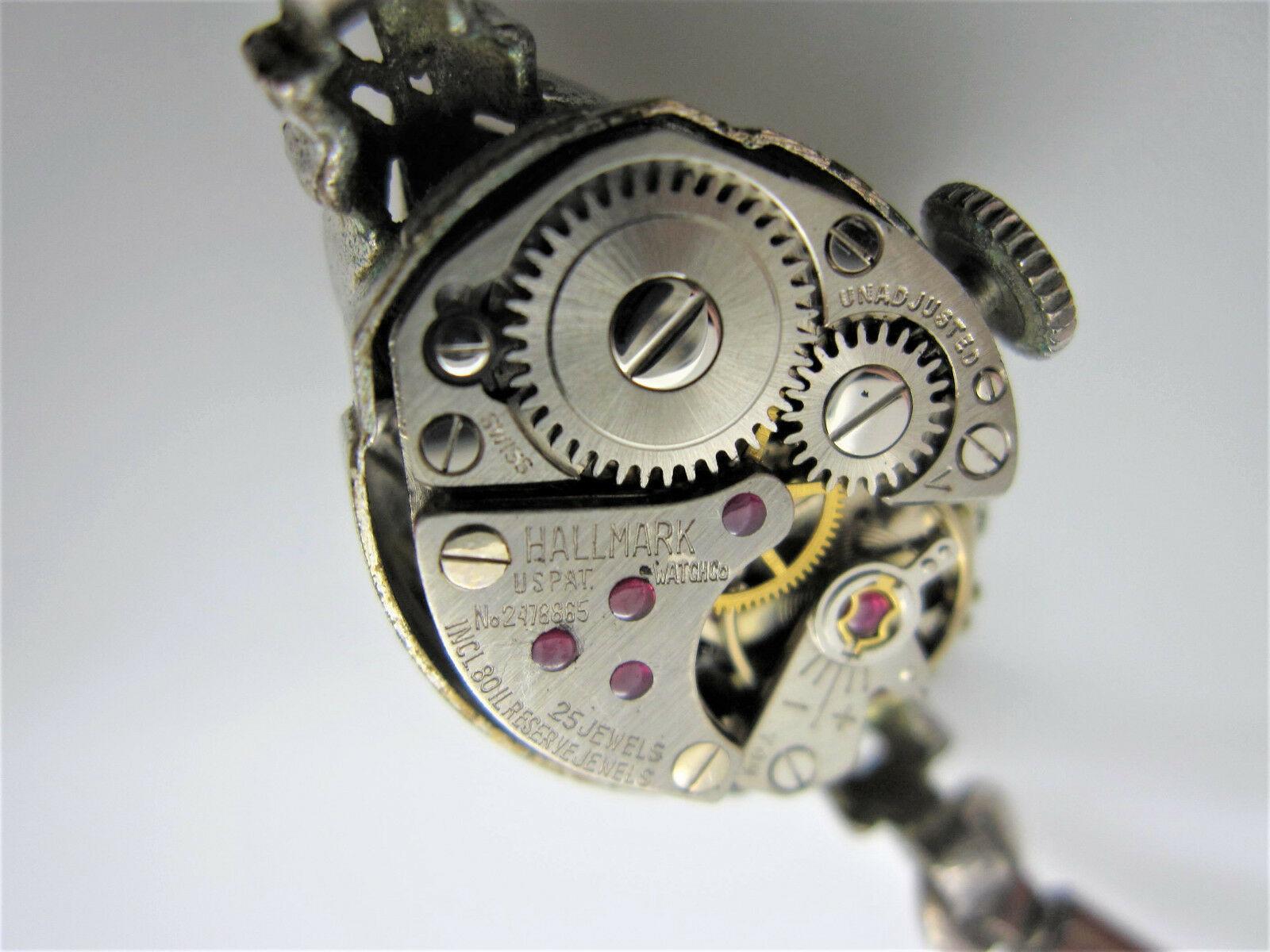 Vintage Women's Hallmark 25 Jewels 10k Rolled Gold Plated Hand Wind Watch image 5