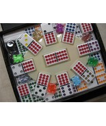 train game dominoes Double 12  Train Game DOMINOES Color-Dot Free Shippi... - $29.95
