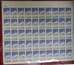 Whooping Cranes/Wildlife Conservation Sheet of 50 x 3 Cent Stamps Scott 1098 By  - $9.99
