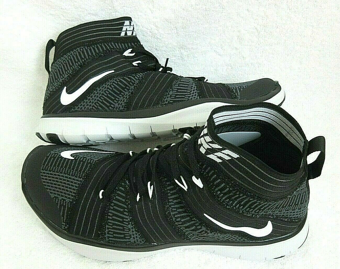 Primary image for Nike Mens Free Train Virtue Black White Grey Hi Top Training Shoes Size 12 New