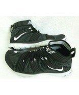 Nike Mens Free Train Virtue Black White Grey Hi Top Training Shoes Size 12 New - $80.18
