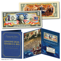 July 4th Independence Day 2-Sided Genuine US $2 Bill in 8x10 Collectors ... - $22.72
