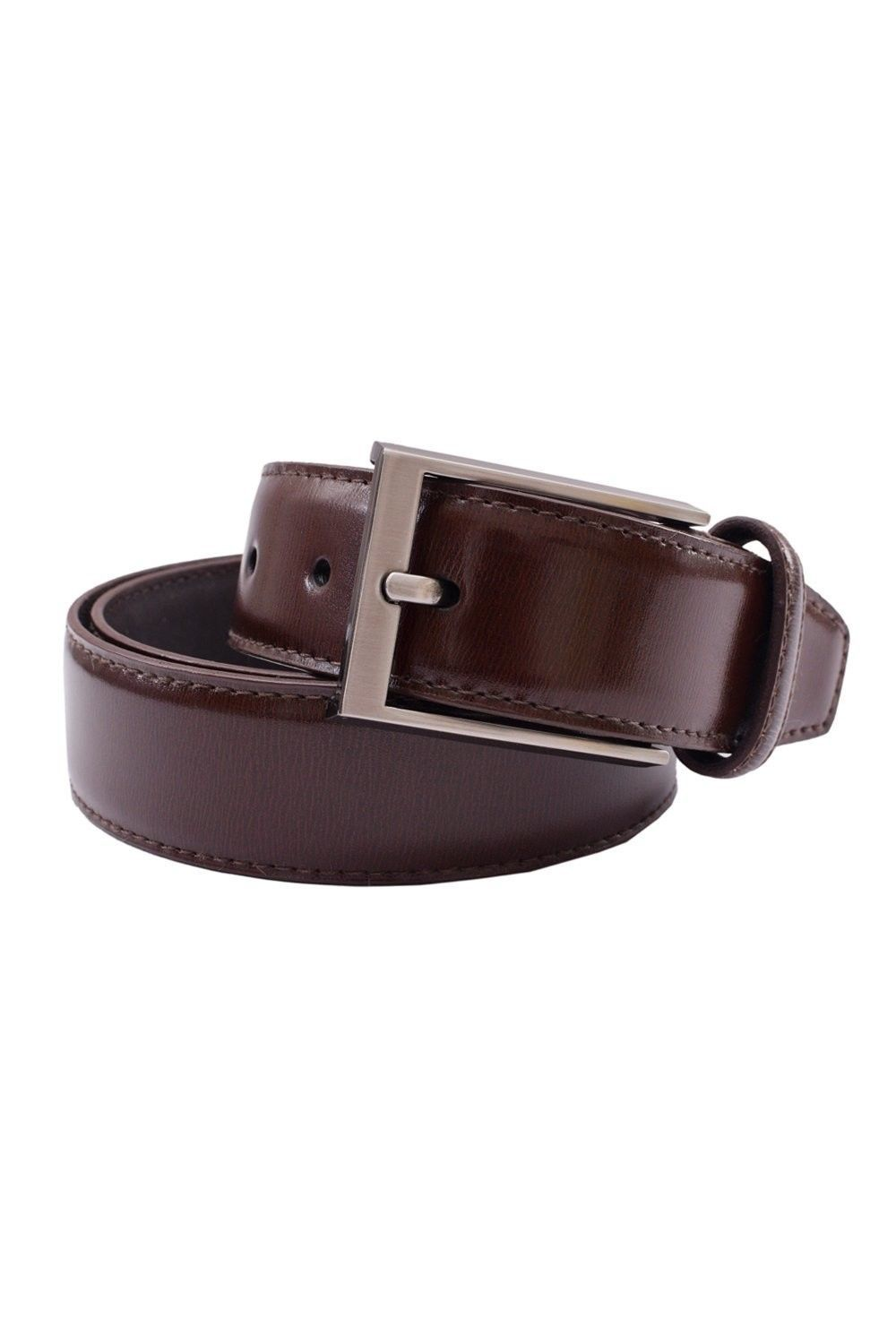 Genuine Leather Men/'s Belts Casual semi Formal wide Straps pin buckle 35 mm gift