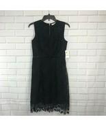 Maison Jules Dress Lace A-Line Sleeveless Deep Black Empire Formal Women... - $128.21