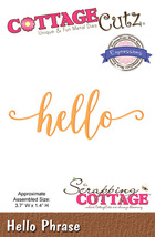 Hello. Cottage Cutz Die. Card Making. Scrapbooking CLEARANCE
