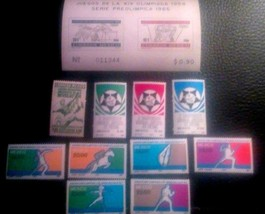 Mexico Small Stamp Lot of Sports Stamps. All Mint Hinge to MNH.sal's sta... - $3.49