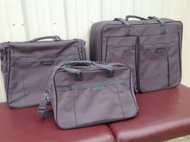 Samsonite Gray 3 Piece Luggage Set  large rolling bag, garment bag and c... - $1.411,19 MXN