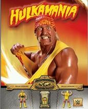 WWE Hulkamania Hulk Hogan 2015 Mattel Action Figure Ad 24x36 double side... - $9.70