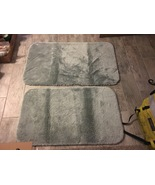 Gently Used Seafoam Green Bath Rugs (set of 2) - $10.00