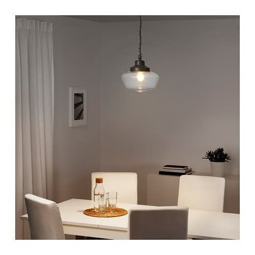 IKEA MAGLARP Pendant lamp, bronze color, glass